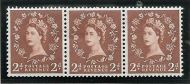 S40k 2d Wilding Multi Crown on Cream listed variety strip of 3 UNMOUNTED MINT