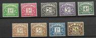 Sg D19 - D26 inc 2424a 1936-37 Edward VIII Full set Postage Dues UNMOUNTED MINT