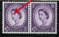 S68h 3d Wilding Edward Wmk variety - white flaw over Queens eye UNMOUNTED MINT