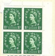 S29h 1½d Wilding Multi Crowns listed variety - daffodil flaw UNMOUNTED MINT
