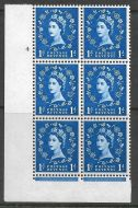 S24 1d Wilding Violet Phos 2x9.5mm variety phos omitted RPS cert UNMOUNTED MINT