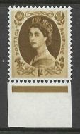 S138a 1/- Wilding variety - double impression UNMOUNTED MINT