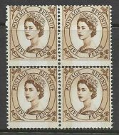 S103 5d Wilding 9.5mm Violet phos with huge perf shift UNMOUNTED MINT