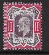 Sg 255 Spec M43(2) 10d Slate Purple & Carmine Chalky De La Rue UNMOUNTED MINT