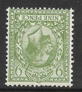 Sg 427wi 9d Olive Block Cypher Wmk Inverted single UNMOUNTED MINT MNH