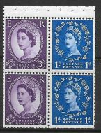 SB48c Wilding booklet pane Blue phos with variety R flaw UNMOUNTED MNT