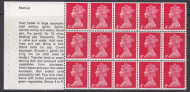 UB17a Cooks Booklet pane UNMOUNTED MINT MNH