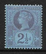 Sg 201 Spec K31(1) 2½d Pale Purple on Blue paper Jubilee UNMOUNTED MINT
