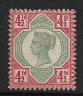 Sg 206 Spec K34(1) 4½d Green  Carmine Jubilee UNMOUNTED MINT