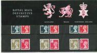 1990 Scotland Wales NI Regional Definitive Pack no.23 Presentation pack
