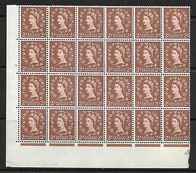 S38h 2d Wilding Edward Crown variety - cyl 9  2 listed flaws UNMOUNTED MINT