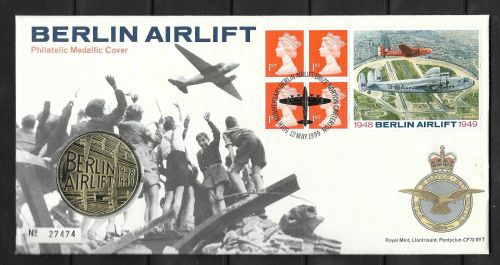 GB 1999 Berlin Airlift Coin Cover first day cover