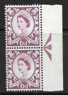 Sg XS17ab 6d Scotland with variety - retouched broken V UNMOUNTED MINT