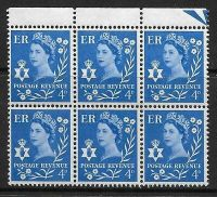 Sg XN4c 4d Northern Ireland with variety - Dot under S UNMOUNTED MINT