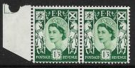Sg XS22a 1 3 Scotland with variety - Broken Oblique in value UNMOUNTED MINT