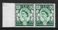 Sg XS22a 1 3 Scotland with variety - Broken Oblique in value UNMOUNTED MINT MNH