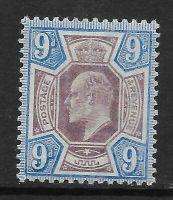 Sg 250 M39(1) 9d Dull Purple  Ultramarine De La Rue UNMOUNTED MINT MNH