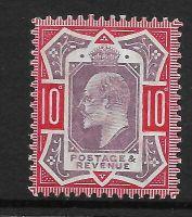 Sg 256 Spec M43(5) 10d Dull Purple  Scarlet Chalky De La Rue UNMOUNTED MINT