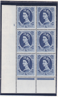 1 6 Wilding Multi Crown Cream Cyl 1 No Dot perf B(I P) UNMOUNTED MINT