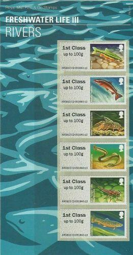 2013 Rivers - Freshwater Life III (3) post  Go PG 13 UNMOUNTED MINT