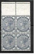 Sg 187 ½d Blue from Lilac  Green issue marginal block of 4 UNMOUNTED MINT