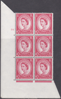 2½d Wilding Multi Crown on Cream Cyl 54 No Dot perf A(E I) UNMOUNTED MINT MNH