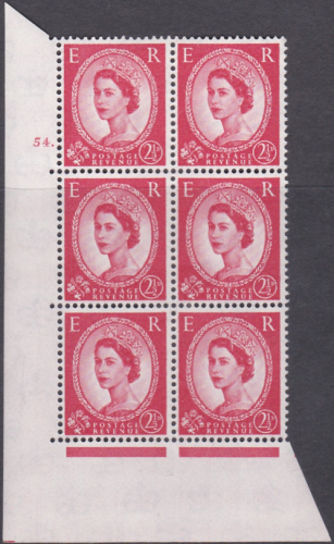 2½d Wilding Multi Crown on Cream Cyl 54 Dot perf A(E I) UNMOUNTED MINT MNH