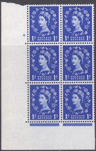 1d Wilding Multi Crown on Cream Cyl 4 No Dot perf A(E I) UNMOUNTED MINT MNH