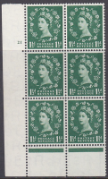 1957 1½d Edward Graphite cylinder 21 No Dot perf type C(E P) UNMOUNTED MINT