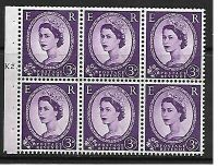 SB90 Wilding booklet pane Edward Crown perf type Ie cyl K2T Dot UNMOUNTED MNT