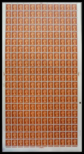Pre-Decimal machin Full Set of 20 in Sheets UNMOUNTED MINT MNH