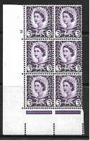 Sg XW1 3d Wales Cream Cyl 2 No Dot perf A(E I) UNMOUNTED MINT