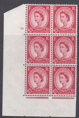 2½d Wilding Multi Crown on White Cyl 50 No Dot perf A(E I) UNMOUNTED MINT